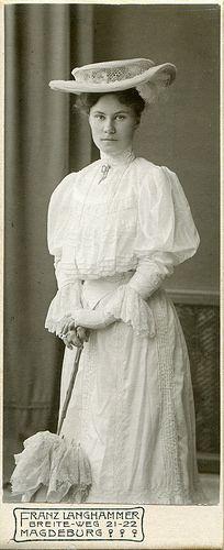 CDV Portrait of a young woman - Germany - 1905 by Patrick Bradley 70, via Flickr