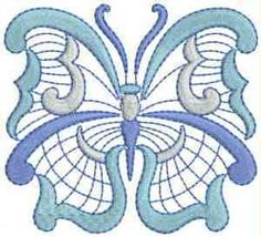Jacobean Embroidery Patterns | Jacobean Butterfly Machine Embroidery Designs
