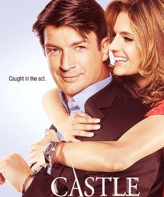 The official poster for Castle Season 5. With the main characters: Richard Castle (Nathan fillion) and Kate Becket (Stana katic)