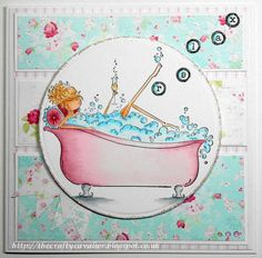 Cute woman's card making idea.....who doesn't need a break?!ha,ha  Card making papers used from Romance and Roses Collection from Nitwit Collections™ #cardmaking