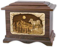 Mountain Haven Wooden Cremation Urn   OneWorld Memorials