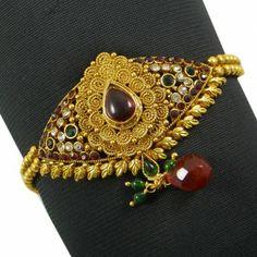 Indian Women Upper Arm Bracelet Jewellry CZ Stone Gold Tone Armlet Jewelry Arm Bracelets, Stone Gold, Arms, Women Jewelry, Brooch, Indian, Traditional, Stuff To Buy, Accessories