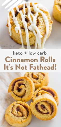 An easy recipe with no mozzarella but made with almond flour and coconut flour. A soft, fluffy inside with a great cinnamon flavor with cream cheese icing. These are not only keto cinnamon rolls but low carb and gluten friendly! Diabetic Desserts, Sugar Free Desserts, Fathead Dough Recipe, Coconut Flour Recipes, Keto Cinnamon Rolls, Blanched Almond Flour, Nut Allergies, Cinnamon Cream Cheeses, Dessert Bread