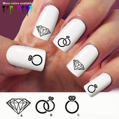 60  Diamond Nail Decal  nail decals Nail Art by Marziaforever