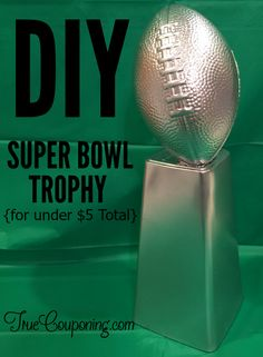 football decorations This trophy is simple to make as a fun prize for a Super Bowl or Football party. Youll love how easy it is to make and your kids will love hoisting it up! Kids Football Parties, Football Party Decorations, Football Birthday, Kids Party Games, Football Decor, Super Bowl Party Games, Superbowl Decor, Football Party Games, Football Spirit