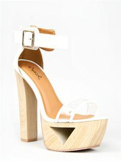 Qupid LAKIE-10X Cut Out Platform Sandals