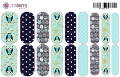 Owls custom nail wraps created in the Jamberry Nail Art Studio. Create yours today! www.candyj.jamberrynails.net/nas/