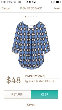 Dear Stitch Fix Stylist - love the color and patterns on this top. A nice piece to layer or wear alone on warmer days.
