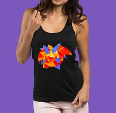 Geometric Charizard Women's Pokemon Tank Top