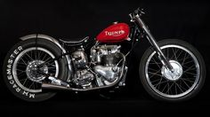 60 years old and still lookin' good: a 1953 Triumph T100 sprint bike, via The Baron's Speed Shop.