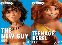 Guy and eep off the croods