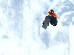 Sochi 2014 Day 5 - Snowboard Men's Halfpipe Qualification. Beautiful form.
