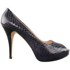 GIUSEPPE ZANOTTI Size 11 Violet Purple Peep Toe Snake Skin Platform Pumps | From a collection of rare vintage shoes at https://www.1stdibs.com/fashion/clothing/shoes/ #giuseppezanottiheelspeeptoe