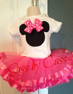 Minnie Mouse Party Birthday Outfit by SassbyCass