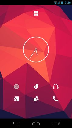 Geometric Android Homescreen by nikoaudio