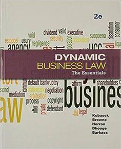 Entrepreneurship 10th edition hisrich test bank test bank business law dynamic business law the essentials 2e nancy k kubasek instructor solution manual fandeluxe Gallery