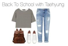"""Back to School with Taehyung"" by kookiechu ❤ liked on Polyvore featuring Miss Selfridge, TIBI and H&M"