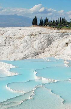 Hot springs in Pamukkale, Turkey #GrouponGetaways