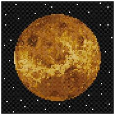 PDF Cross Stitch pattern : 0058.Venus planet by PIXcross