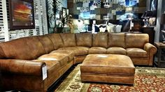 Your home will not lack seating with this gorgeous and extra spacious sectional sofa! Incorporate this piece into your living room or home game room and enjoy many fun and comfortable family gatherings for years to come! | Houston TX | Gallery Furniture |