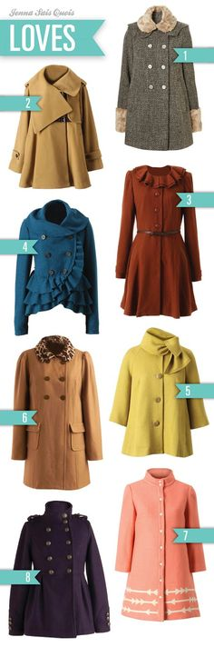 fabulous retro coats brights winter fashion clothing