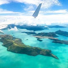 """I'll take a window seat, please!"" - Flying into Hamilton Island, one of the 74 islands in the Whitsundays, Queensland."