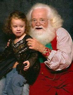 santa photo, santa clause, little girls, vintage santas, creepi santa