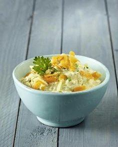 Brotaufstrich aus Frischkäse, Möhre, Ingwer und Curry