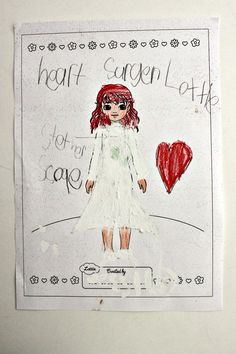 Lottie Outfit Design. Jessica (age 5) 'Heart Surgeon Lottie' Australia.