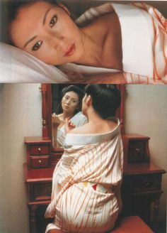 Meiko Kaji 梶芽衣子 Scanned by me. Japanese Outfits, Japanese Fashion, Japanese Clothing, Black Pin Up, Japanese Film, Japanese Art, Tough Girl, Asian Doll, Japan Girl
