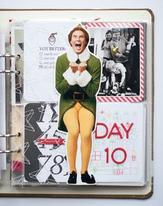 Buddy the Elf & Handlettering to tell the story! Album - Day 9 & 10 by amylard at //the big cut out of Buddy Christmas Mini Albums, Christmas Journal, 25 Days Of Christmas, Christmas Scrapbook, Christmas Minis, Christmas Images, December Daily, December Challenge, Daily Journal