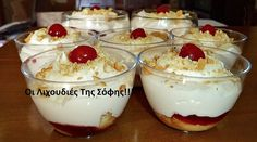 Greek Sweets, Greek Desserts, Cold Desserts, Party Desserts, Greek Recipes, Desert Recipes, My Recipes, Pastry Recipes, Cookbook Recipes
