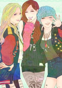 SNSD Hyoyeon, Tiffany, and Sunny by モモ