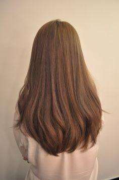 long brown thick hair