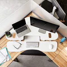 Height-Adjustable Standing Desk for Cubicles – VARIDESK Cube Corner 48 – White  http://www.discountbazaaronline.com/2016/01/26/height-adjustable-standing-desk-for-cubicles-varidesk-cube-corner-48-white/