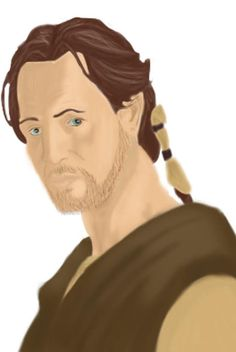 this is a picture of Qui-Gon Jinn a bit younger than in episode 1