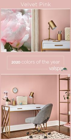 """""""A grown-up blush pink that's been accepted as a beloved neutral, providing the nurturing qualities of lavender and the sociability of red. One of 12 Valspar 2020 Colors of the Year: Bombay Pink at Lowe's. Pink Bedroom Walls, Pink Room, Room Ideas Bedroom, Bedroom Decor, Pink Bedrooms, Blush Pink Bedroom, Blush Walls, Shabby Bedroom, Pretty Bedroom"""
