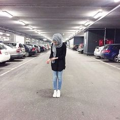 fashion, hijab, and jeans resmi