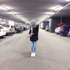 fashion, hijab, and jeans resmi