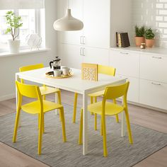 JANINGE chair, yellow | IKEA Indonesia Chaise Ikea, Chaise Bar, Ikea Chair, Diy Chair, Swivel Chair, Chair Cushions, Eames Chairs, Bar Chairs, Yellow Dining Chairs