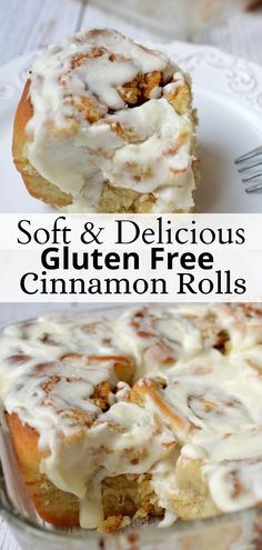 These homemade gluten free cinnamon rolls are soft, fluffy and delicious! They use bobs red mill gluten free flour and easy to make. There's not much better than warm and gooey cinnamon rolls! #cinnamonrolls #glutenfreebaking #breakfast #easy #creamcheesefrosting Quinoa Breakfast Bars, Savory Breakfast, Breakfast Cookies, Breakfast Time, Breakfast Recipes, Gluten Free Breakfasts, Gluten Free Desserts, Gluten Free Recipes, Gluten Free Flour