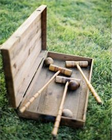 A pre-dinner game of croquet