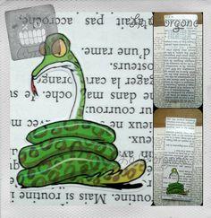 Serpent... Marque page.Recyclage par la Gorgone. : Marque-pages par la-gorgone
