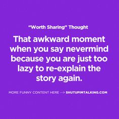 Been there, totally done that! More laughs at shutupimtalking.com