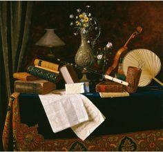 William Michael Harnett, Ease on ArtStack #william-michael-harnett #art