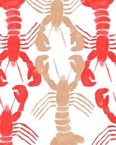 Lobster print .