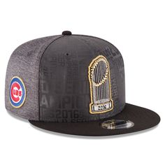 best loved 49ce8 89801 Chicago Cubs New Era 2016 World Series Champions Official Parade Locker  Room 9FIFTY Snapback Adjustable Hat - Graphite Black