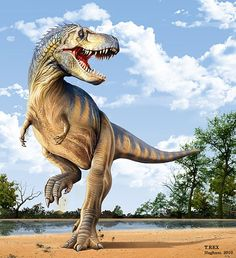 Tyrannosaurus rex. Art by Mohamad Haghani