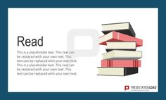 Use books to illustrate research, ideas, creativity - illustrate key concepts with mental pictures and metaphors http://www.presentationload.com/metaphors-flat-design-powerpoint-templates.html