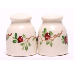 Ceramic Salt & Pepper Shaker Set - 11 Pattern Options